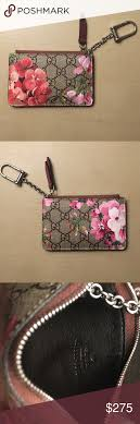 gucci key pouch. (limited edition) gucci blooms key case pouch