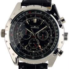 brand ess luxury gents men black aviator automatic mechanical men gent white tourbillon aviator skeleton self wind up mechanical watch aviator watch for men