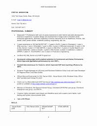 Sample Resume For Experienced In Dotnet Developer Inspirationa