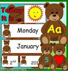 Teddy Bear Chart Details About Teddy Bear Weather Chart Calendar New Term Eyfs Ks1 Childminder Resources On Cd