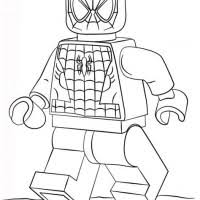 Coloring Pages Lego Spiderman Coloring Page