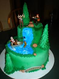 The Hunting Fishing Grooms Cake
