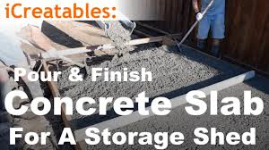 how to pour a concrete slab for your