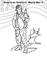 American Soldier Coloring Pages At Getdrawingscom Free For