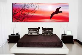1 piece canvas art print bedroom wall art bird canvas photography red wildlife on wall art prints for bedroom with 1 piece red canvas photography bird large pictures