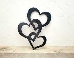 metal wall art hearts