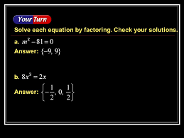 17 answer solve each equation by factoring check your solutions a b example 5 5b answer