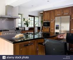 sink granite topped island unit large modern kitchen with kitchens style american bhtfce fridge freezer fitted cupboard designs homes renovation ideas your