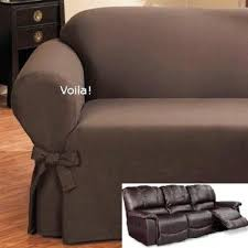 couch covers with recliners. Delighful With Reclining SOFA Slipcover Ribbed Texture Chocolate Adapted For Dual Recliner  Couch Leather Covers Inside Covers With Recliners O