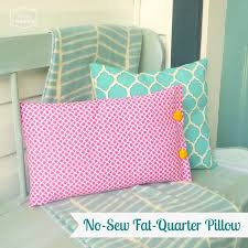 a quick n easy no sew fat quarter pillow and our pink lemonade inspired front porch