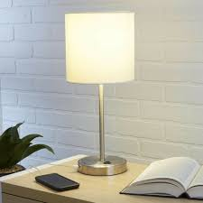 White Modern Stick Light Lamp W Usb Port Charging Station Nightstand Bed Decor 50276993988 Ebay