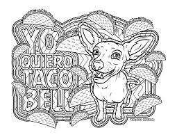 taco bell coloring pages i have trouble staying in the lines 90s coloring book for s