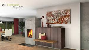033 Britt Ofendesignfireplacedesign Kachelofen Modern Tiled Stove Contemporary