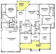 655903  4 Bedroom 3 Bath Country Farmhouse With Split Floor Plan 4 Bedroom Townhouse Floor Plans