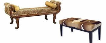 bench bedroom furniture. Bedroom Bench Ottoman Animal Pattern Cool Furniture