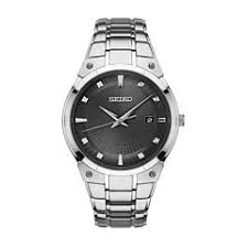 mens watches casual watches for men on jcpenney seiko mens silver tone bracelet watch sne429