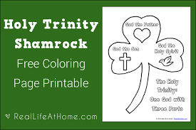 Small Picture Holy Trinity Shamrock Coloring Page Printable