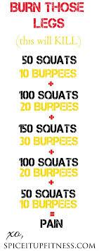 burn those legs workout