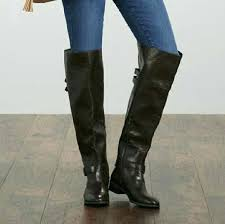 thigh high boots size 11 wide calf brand new over the knee home improvement warehouse hours