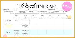 Word Travel Itinerary Template Source Sample Vacation Itinerary Template Monster Vs