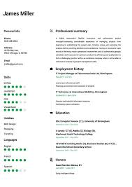 Resumes With Photos Online Resume Builder Create A Perfect Resume In 5 Minutes