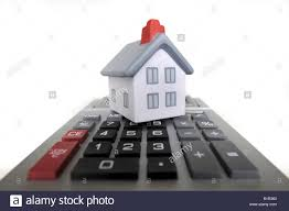 Model House With Calculator Re Housing Costs Bills Economy