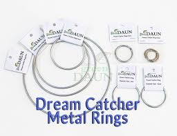 What To Use For A Dream Catcher Hoop Dream Catcher Metal Ring Hoops Green Daun 80