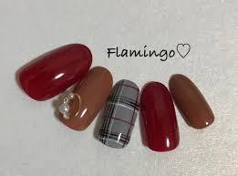Flamingoさんのネイルデザイン チェック グレンチェック