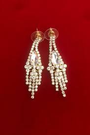 project description simple chandelier style triangular dangle earrings