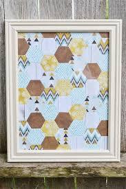 Hexagon Wall Art | We R Memory Keepers Blog & Hexagon Wall Art by Aly Dosdall Adamdwight.com