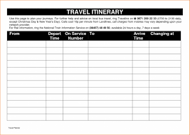 Free Trip Itinerary Planner Free Printable Vacation Itinerary 7 Trip Template