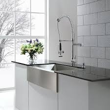 Restaurant Style Kitchen Faucets Kraus Kpf 1602 Single Handle Pull Down Kitchen Faucet Commercial