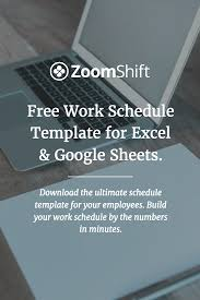 Free Work Schedule Template For Excel And Google Sheets Perfect For