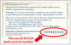Social Number On Card Back About That Of The Security