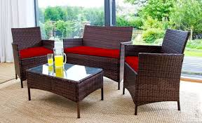Replacement 3pc Cushions Set to fit Rattan Garden Furniture Chairs