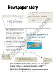 example of a newspaper article writing a newspaper article example and scaffold esl