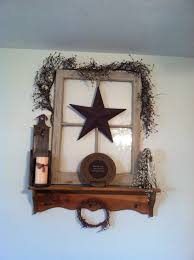 Decorate With Old Windows 18 Primitive Decorated Old Windows Old Window Primitive Decor