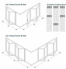 available opening styles for floating corner post doors