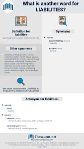 Net Liabilities Synonyms For Liabilities Antonyms For Liabilities Thesaurus Net
