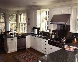 Dark Gray Kitchen Cabinets U Shaped Kitchen Designs With Breakfast Bar Grey Concrete Floor