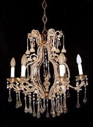grande lampadario 6 luci in cristallo xix sec italia a large louis xv style cut