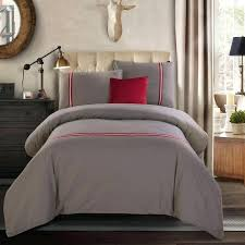 2016 100 cotton bedding sets silver grey solid printed queen king size duvet cover bed sheet