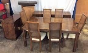 henredon dining room set w 6 cane back