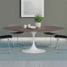 wonderful oval tulip table of saarinen dining