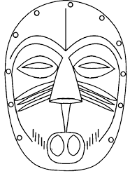 Masque Africain Coloriage Filename Coloring Page Free Printable