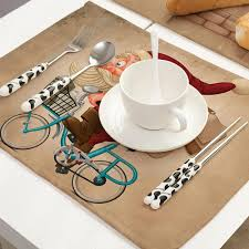 Creative Christmas Placemats For Kitchen Table Cup Coaster Place Mats Christmas Table Mat For Home And Kitchen Accessories