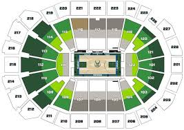 Milwaukee Bucks Detailed Seating Chart Wisconsin Entertainment Sports Center Seating Chart Tickpick