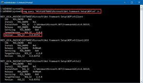 net framework version on windows 10