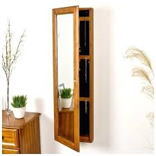 wall mounted jewelry with mirror jewellery cabinet full size