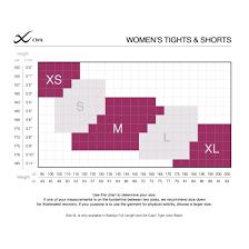 Cw X Womens Tights Shorts Size Chart Cw X